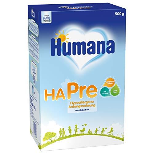 Humana HA PRE, hypoallergene Anfangsnahrung für Babys mit erhöhtem Allergie-Risiko, Milchpulver als...