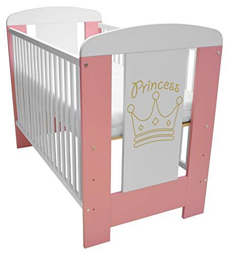 Best For Kids Gitterbett in 3 Farben mit 10 cm Matratze aus Schaumstoff TÜV Zertifiziert Geprüft, Kinderbett...