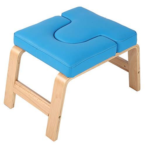 Cocoarm Yoga Kopfstandhocker Handstand Bench, Holz und PU-Pads, Entlasten Sie Müdigkeit und Aufbau...
