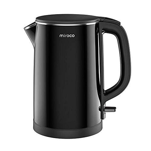 Miroco Wasserkocher, Elektrischer Wasserkessel 1,5L Edelstahl Teekessel 2150W Elektrische Kanne,...