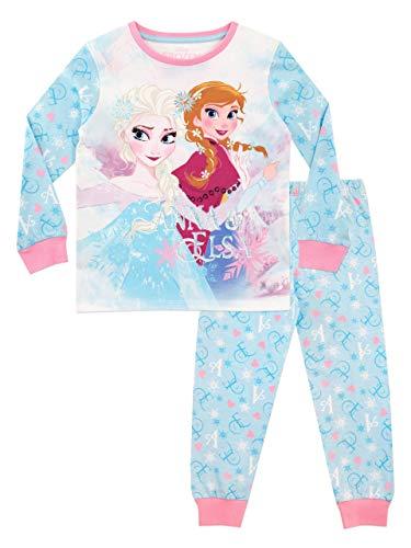Disney Mädchen Die Eiskönigin Schlafanzug Frozen (116 (Herstellergröße: 5-6 Jahre))