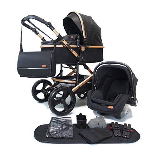 Pixini Kinderwagen (Kalani 3in1 Kombikinderwagen, inkl. Babywanne & Buggy & Auto-Babyschale -...