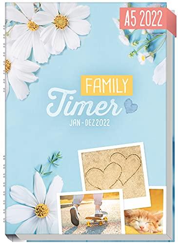 Family-Timer 2022 A5 [Good Times] Der Familien-Kalender! 12 Monate: Januar bis Dezember 22 | Familien-Planer...