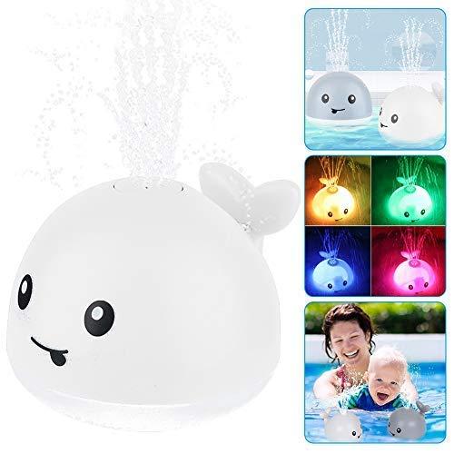 Baby Badespielzeug Wasserspielzeug ,Whale Spray Induction Schwimmende Baden Spielzeug mit Licht und Musik,...