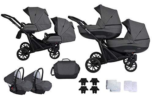 KUNERT BOOSTER 3in1 n Kinderwagen 3 in 1 Komplettset Zwillingskinderwagen Babywagen Baby 3 in 1...