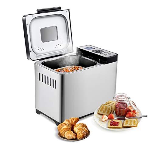 COSTWAY Brotbackautomat 19 Programme / 650W / 500-1000g Brotgewicht / 15 H Timing Brotbackmaschine/Brotbäcker...