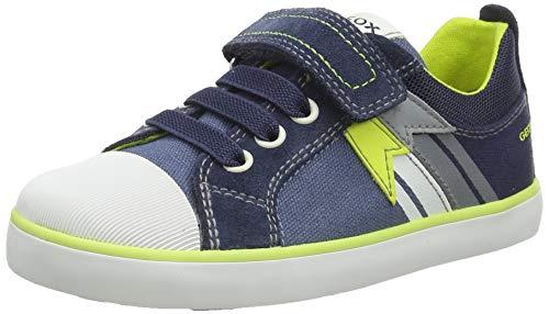 Geox Baby-Jungen B Kilwi Boy B Sneaker, AVIO/Fluo Yellow, 23 EU