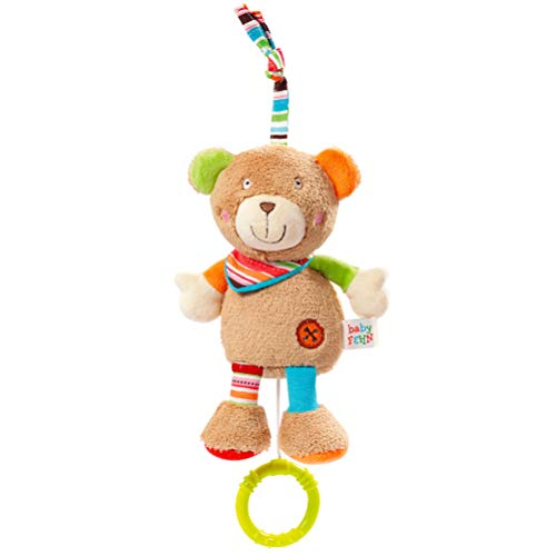 Fehn 091014 Mini – Spieluhr Teddy – Kuscheltier mit integriertem Spielwerk - Melodie 'Weißt du wieviel...