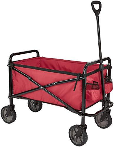 Amazon Basics Zusammenklappbarer Bollerwagen für den Garten, faltbar, mit Abdeckung, für den Außenbereich,...