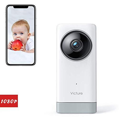 Victure 1080P Babyphone mit Kamera, Baby Kamera 2.4G Überwachungskamera WLAN Kamera mit...