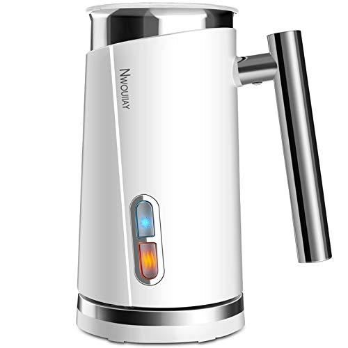 NWOUIIAY 3 in 1 Milchaufschäumer Elektrischer 500W 300ml Edelstahl Doppelwanddesign Milch Schnelles Erhitzen...