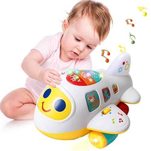 ACTRINIC Baby Spielzeug 12-18 Monate elektronisches Flugzeug Spielzeug mit Licht und Musik Best pädagogisches...