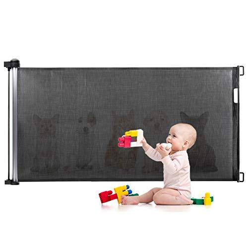 Türschutzgitter, Eccomum Treppenschutzgitter treppengitter für Babys und Haustiere(0-140 cm), Einstellbare...