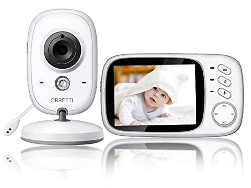 ORRETTI V8 Babyphone mit Kamera - mit EXTRA zusätzlicher Batterie - 3,2 Zoll LCD-Bildschirm, VOX,...