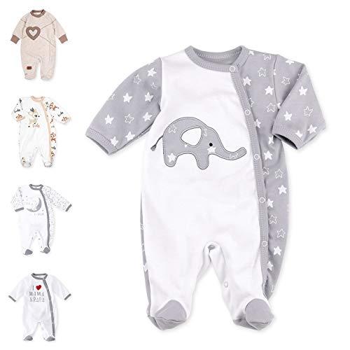 Baby Sweets Unisex Baby Strampler für Mädchen und Jungen/Baby-Overall in Weiß Grau als Schlafanzug und...
