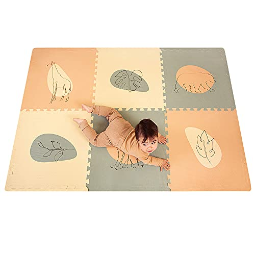 Hakuna Matte große Puzzlematte für Babys 1,8x1,2m – 6 XXL-Platten 60x60cm mit Dschungelmotiven – 20%...