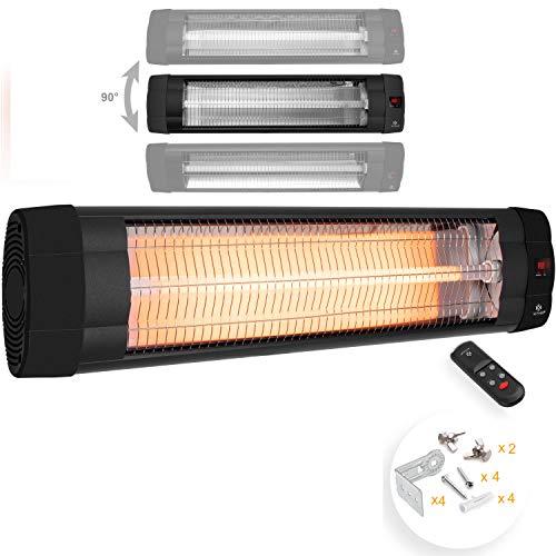KESSER® Infrarotstrahler 2500 Watt Heizstrahler Terrassenstrahler Wärmestrahler mit Fernbedienung ,...