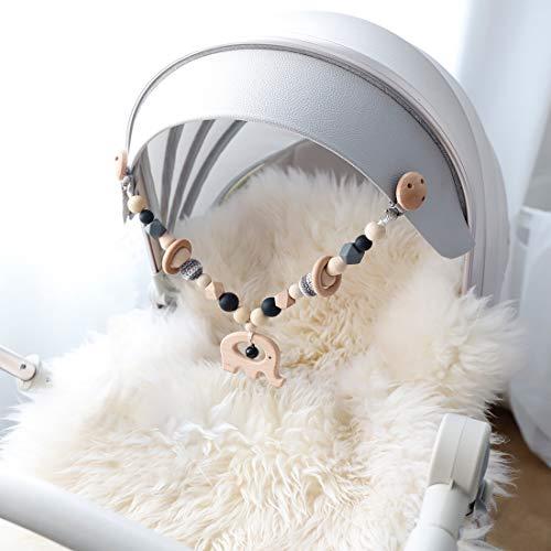 Mamimami Home 1pc Baby Spielzeug aus Holz Elefant Kinderwagen String Links Clip auf Kinderwagen Neugeborenen...