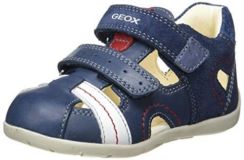 Geox Baby Jungen B Kaytan A Sneaker, Blau (Navy/Avio), 18 EU