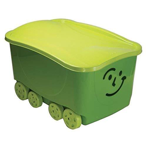 ROLLER Rollbox FANCY - grün - mit Deckel - auf Rollen