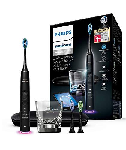 Philips Sonicare DiamondClean Smart Elektrische Zahnbürste mit Schalltechnologie HX9903/13, Ladeglas,...