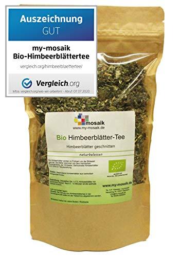 my-mosaik Bio Himbeerblättertee - 100% naturbelassen, geschnitten, ohne Zuckerzusatz, aus kontrolliert...