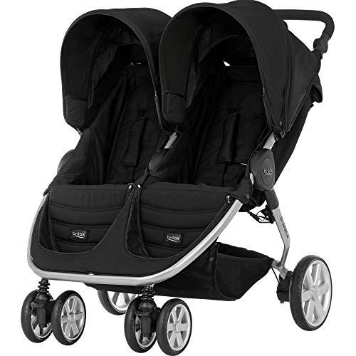 BRITAX RÖMER Buggy B-AGILE DOUBLE, Zwillingsbuggy klein zusammenklappbar und kompakt für zwei Kinder, von...