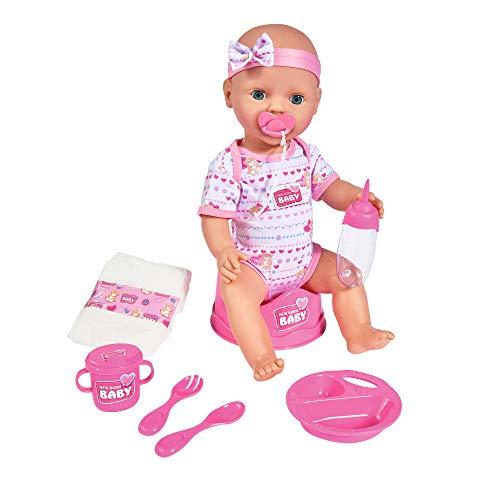 Simba 105039005 - New Born Baby Puppe / Trink- und Nässfunktion / 8 Teile / 43cm