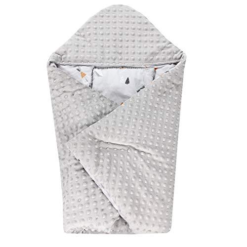 TupTam Einschlagdecke 5 Punkt Gurt für Babyschale - Winter, Farbe: Indianer Tiere/Grau, Größe: ca. 75 x 75...