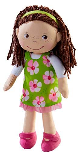 HABA Puppe Coco: Stoffpuppe zum Spielen und Kuscheln für Kleinkinder ab 18 Monaten