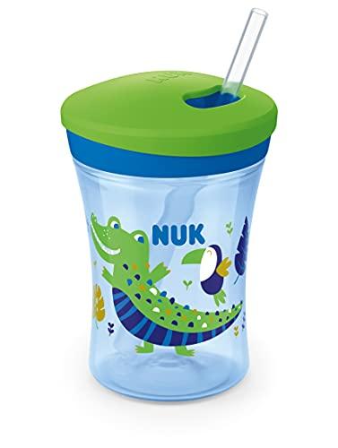 NUK Action Cup Trinkbecher Kinder   Chamäleon Effekt   12+ Monate   Drehdeckel mit weichem Strohhalm  ...
