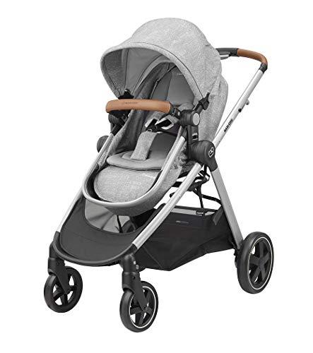 Maxi-Cosi Zelia Kinderwagen, silberfarbener Rahmen, Grau