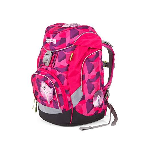 ergobag pack Set - ergonomischer Schulrucksack, Set 6-teilig - Prima Bärllerina - Pink