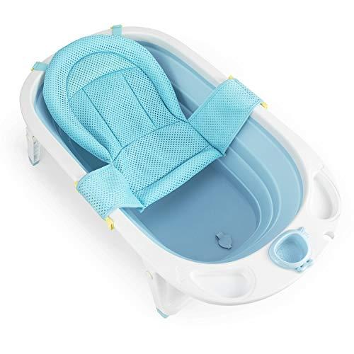 Fascol Faltbar Babybadewanne, Kinderbadewanne mit Sicherheitsbadesitz und Ablaufstöpsel, Badewanne Länge...