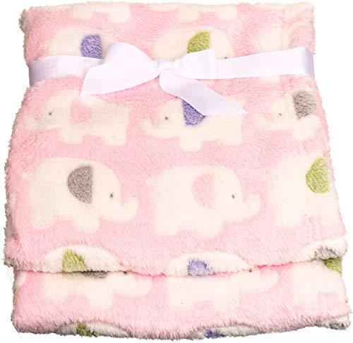 Bieco Babydecke Mädchen Rosa Elefanten | Baby Decke | Kuscheldecke Baby | Baby Blanket | Tagesdecke Kinder...