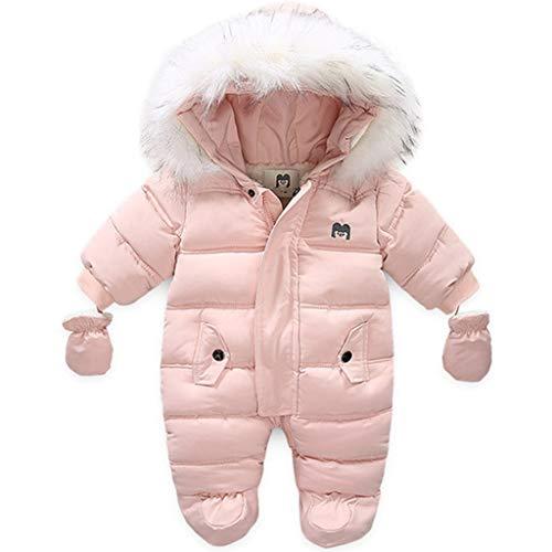 Baby Schneeanzug Fleece Strampler Winter Overalls Säugling Schlafanzug Kleinkind Verdickte Spielanzug