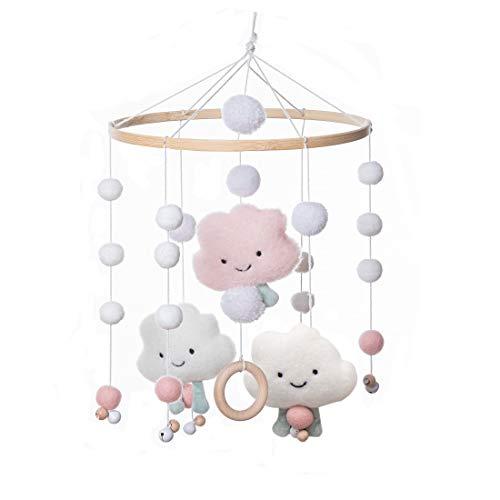 Promise Babe Baby Mobile Windspiele aus Filz Ball und Bambus Kinderzimmer Hängende Bettglocke Mobile für...