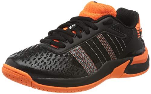 Kempa Unisex Kinder Attack Contender JUNIOR Sneaker, schwarz/Fluo orange, 39 EU