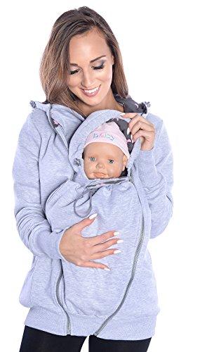 Mija - 3in1 Tragejacke, Umstandsjacke Tragepullover für Tragetuch für Babytrage 4046 (EU40 / L, Melange)