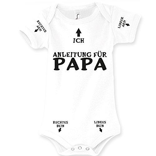 Spruchreif24de Baby Body Strampler Anleitung für Papa Geburt Geschenk (6-9 Monat 74cm)