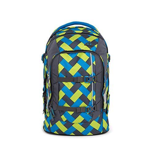 SATCH Chaka Curbs Schulrucksack SAT-SIN-001-9D4, 45 cm, 30 L, Blue Green Bricks