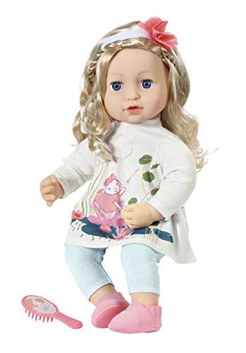 Zapf Creation 706381 Baby Annabell Sophia 43 cm - weiche Puppe mit langen Haaren, Haarband, Haarbürste,...