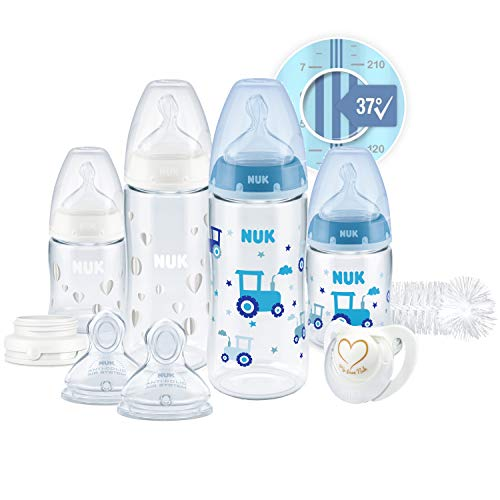 NUK First Choice+ Perfect Start Babyflaschen Set | Erstausstattung mit 4 Temperature Control Anti-kolic...