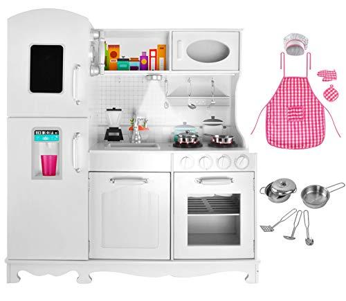 MALATEC Kinderküche aus Holz Spielzeugküche Holzküche Spielkücke für Kinder 4582