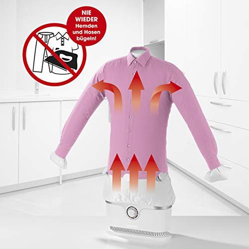 CLEANmaxx automatischer Hemdenbügler | Bügler für Hemden & Blusen, Bügelautomat | Bügelpuppe mit zwei...