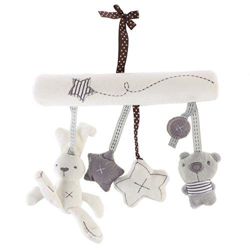 Toyvian Baby Krippe Spielzeug Kinderbett Mobile Rassel Bett Glocke Spielzeug Niedlichen Plüsch Bunny Star...