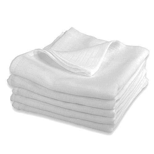 Mullwindeln LUX - 5er Pack weiß 80x80 cm | PREMIUM QUALITÄT - Stoffwindeln & Mulltücher fürs Baby (5...