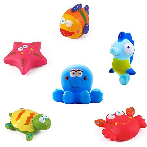 Yojoloin Baby Badespielzeug schwimmende Badespielzeug, Baby weiches Bad Zeit Boot Spielzeug, Badewanne Lernen...