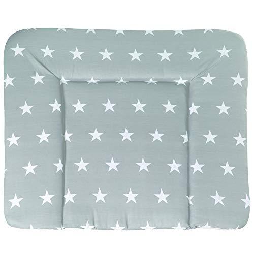 roba Wickelauflage 'Little Stars', Wickelunterlage 85x75cm aus phthalatfreier Folie, Baby Wickeltischauflage...