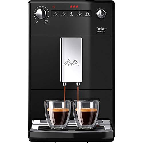 Melitta Purista F 230-102 Kaffeevollautomat mit flüsterleisem Kegelmahlwerk (Direktwahltaste, 2-Tassen...